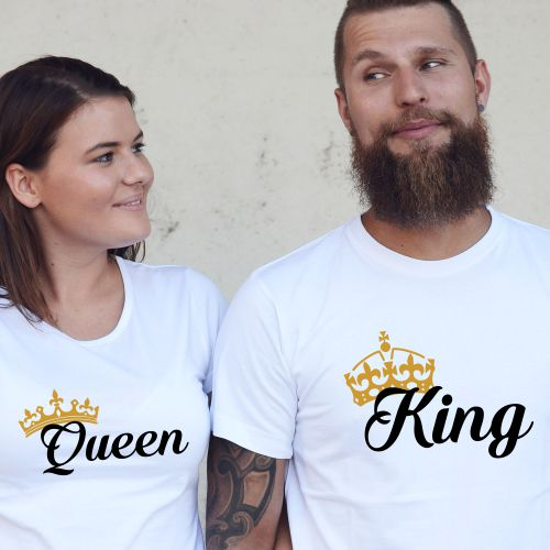 trička king queen 12